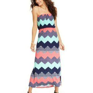 Trixxi Chevron Maxi Dress Small